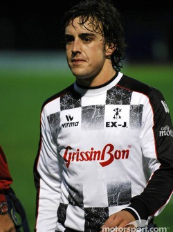Charity football match: Fernando Alonso