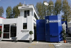 Bridgestone and Michelin hospitality areas