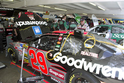 Team Goodwrench prepare the #29