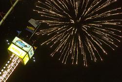 Post-race fireworks