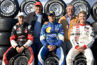 GP2 Fotos - Los ex campeones del mundo Niki Lauda y Keke Rosberg con Mathias Lauda, Nelson A. Piquet y Nico Rosberg