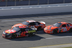 Jamie McMurray, Tony Stewart and Jeff Burton