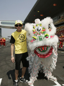 Valentino Rossi and a Chinese dragon
