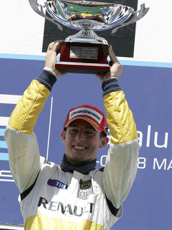 Podium: race winner Jose Maria Lopez