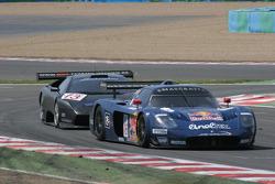 #16 JMB Racing Maserati MC 12 GT1: Chris Buncombe, Philipp Peter, Roman Rusinov, #13 Reiter Eng. Lamborghini Murcielago R: Norman Simon, Peter Kox