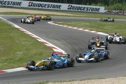 Pace lap: Fernando Alonso
