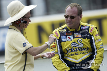 Owner of BAM Racing Beth Ann Morenthau with Ken Schrader