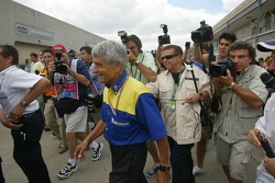 Pierre Dupasquier comes out of the Michelin meeting