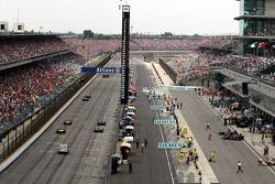 Michelin teams pull into pitlane