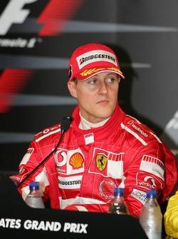 Press conference: race winner Michael Schumacher