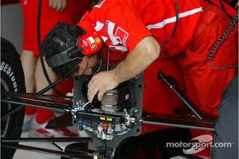 Ferrari team member at work