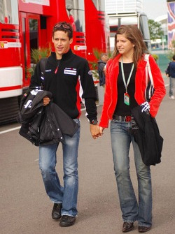 Patrick Friesacher with his girlfriend