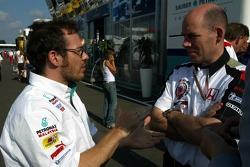 Jacques Villeneuve and Peter Sauber