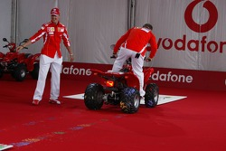 Vodafone event at Hockenheim Talhaus: Michael Schumacher and Rubens Barrichello
