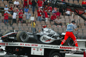 The McLaren of Kimi Raikkonen on a transporter