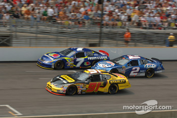 Bill Elliott, Robby Gordon and Rusty Wallace