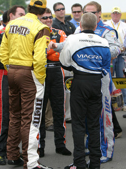 Elliott Sadler, Mark Martin, Mike Bliss, Tony Stewart and Rusty Wallace