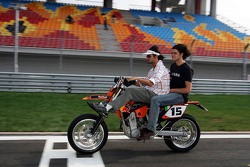 Vitantonio Liuzzi inspects the track