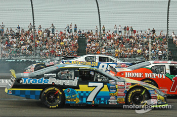 The crash of Boris Said, Dale Jarrett and Michael Waltrip