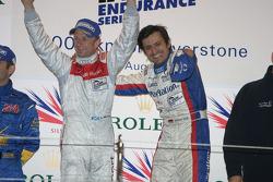 Podium: race winners Stéphane Ortelli and Allan McNish celebrate