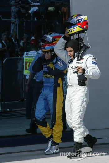Fernando Alonso and Juan Pablo Montoya
