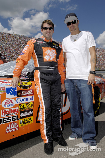 Tony Stewart with Kid Rock