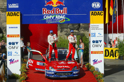 Podium: champagne for Sébastien Loeb and Daniel Elena