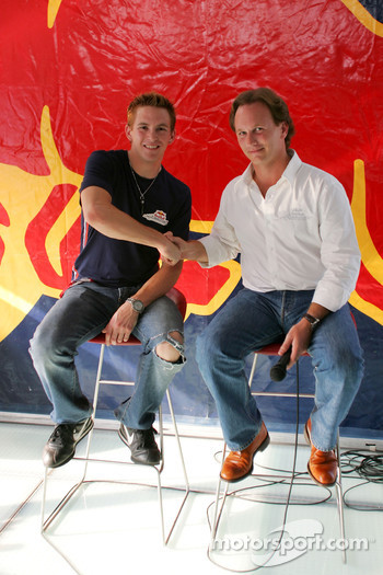 Scott Speed is announced as the third driver for Red Bull Racing in 2006 by Christian Horner