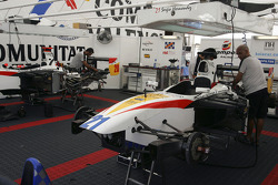 Campos Racing team members at work