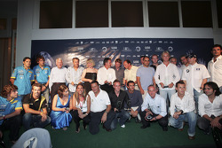 All the GP2 winners with the F1 drivers on stage