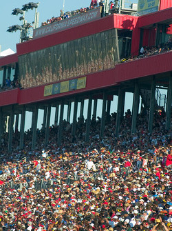 A sample of the huge NASCAR crowd