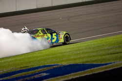 Kyle Busch celebration burnout for the fans