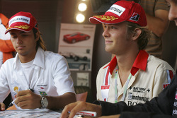 Autograph session: Nico Rosberg and Nelson A. Piquet