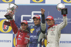 Podium: race winner Nelson A. Piquet with Ernesto Viso and Nico Rosberg