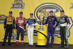 The Roush Racing contingent for the 2005 Chase for the NASCAR NEXTEL Cup: Matt Kenseth, Greg Biffle, Mark Martin, Kurt Busch and Carl Edwards