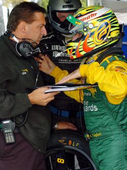 Alex Tagliani and crew discuss the driver change