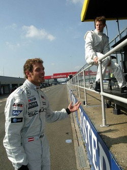Alexander Wurz and Anthony Davidson