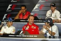 FIA press conference: Felipe Massa, Rubens Barrichello, Antonio Pizzonia, Juan Pablo Montoya and Tiago Monteiro