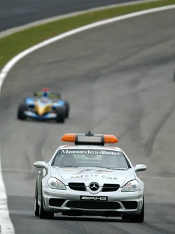 Safety car out on track