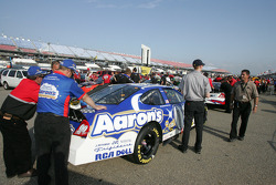 Aaron's Chevy crew members at tech inspection line