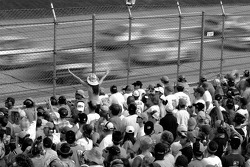 Talladega fans watch Cup cars at speed