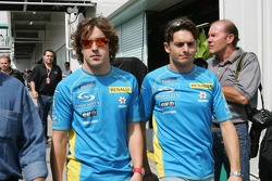 Fernando Alonso and Giancarlo Fisichella