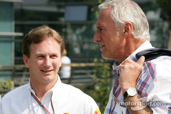 Christian Horner and  and Dietrich Mateschitz