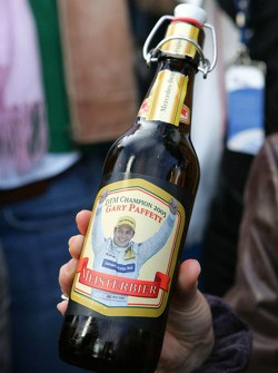 The beer of DTM 2005 champion Gary Paffett