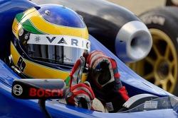Bruno Senna celebrates his 2nd place