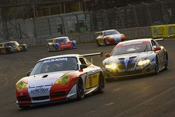 #80 Synergy Racing Porsche GT3 Cup: Craig Stanton, David Murry, #65 TRG Pontiac GTO.R: Marc Bunting, Andy Lally