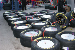 Tires for Sterling Marlin sit ready