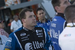 Ryan Newman watches a replay of the incident with P.J. Jones