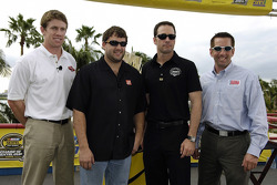 Miami press conference: 2005 championship contenders Carl Edwards, Tony Stewart, Jimmie Johnson and Greg Biffle