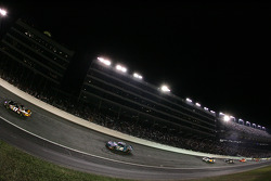 Matt Kenseth leads Kyle Petty in Turn 1